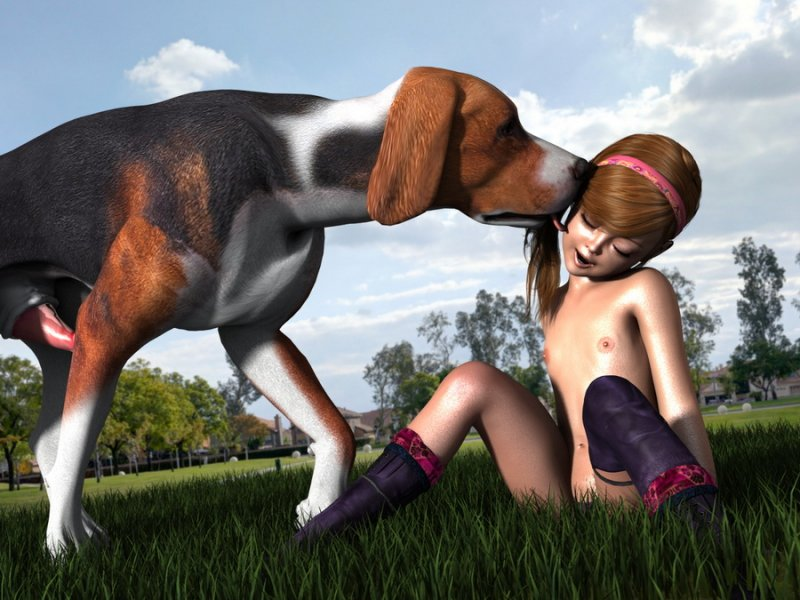 new 3dcg set from badonion loli and horny dog genre lolicon slut dogs