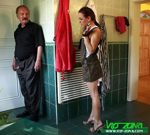 Michaela - Guys Dad Pretends to Leave and Hides in Bathroom (2012/MySonsGF.com/SD)